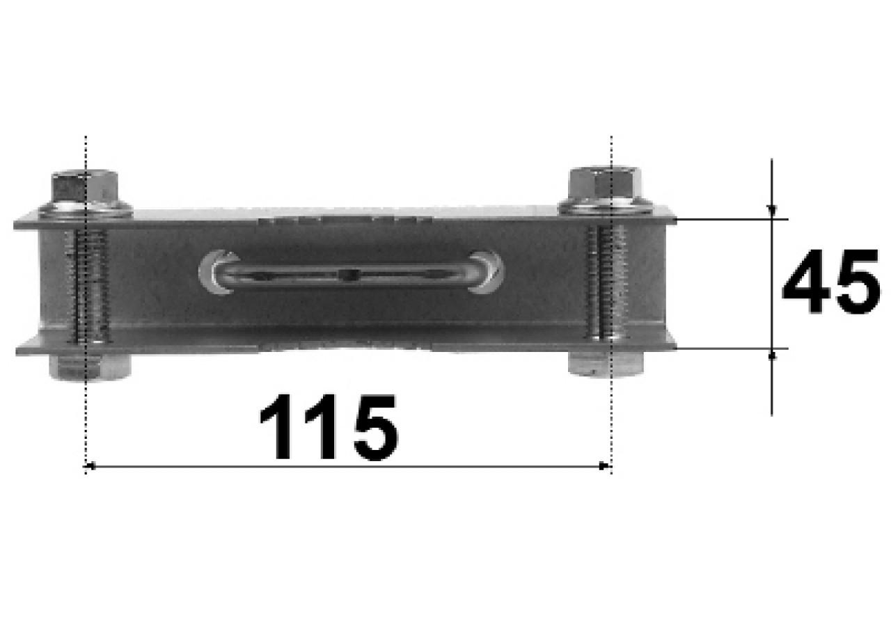 Mast bracket tape clamp d h mounting brackets